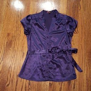 Button down purple shirt